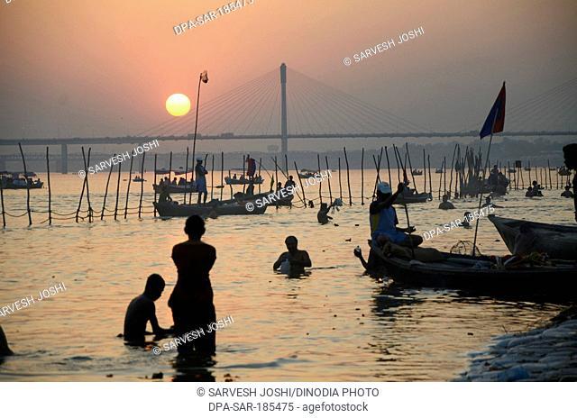 Kumbh Mela in Allahabad at Uttar Pradesh India