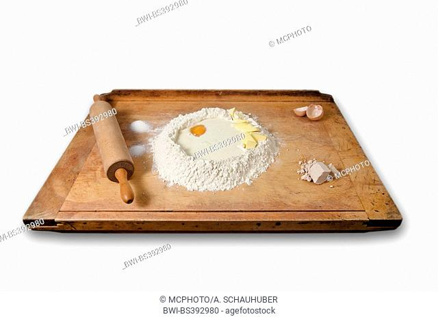 baking-board with leavened dough