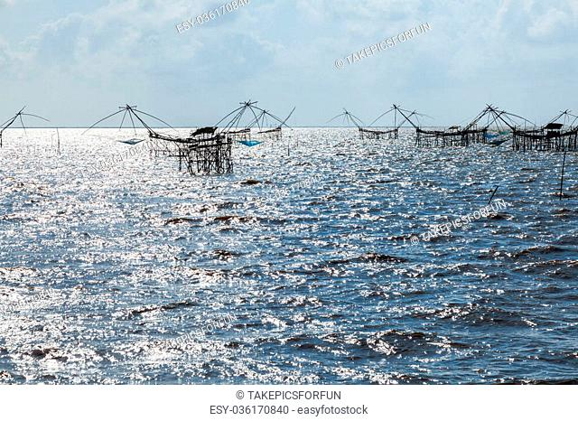 Fishing Trap in Talay Noi, Phatthalung province, Thailand