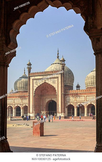 The Jama Masjid, Friday Mosque is the largest mosque in India, Delhi, India