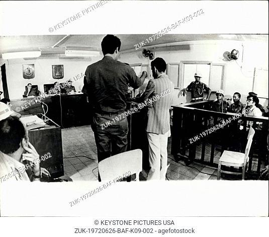 Jun. 26, 1972 - June 26th, 1972 Japanese Red Army terrorist in court ?¢'Ǩ'Äú Kozo Okamoto, the Japanese Red Army terrorist