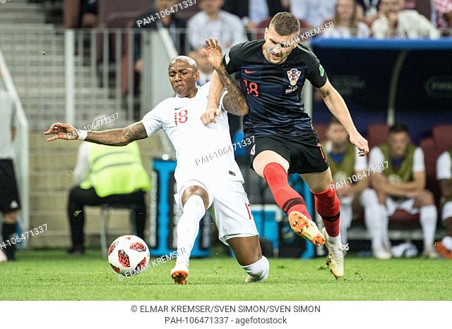 Ashley YOUNG (left, ENG) versus Ante REBIC (CRO), action, duels, Croatia (CRO) - England (ENG) 2: 1, semi-finals, match 62, on 11.07