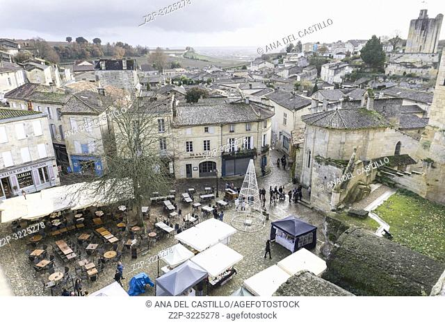 Saint Emilion is World Heritage site in France on December 8, 2018