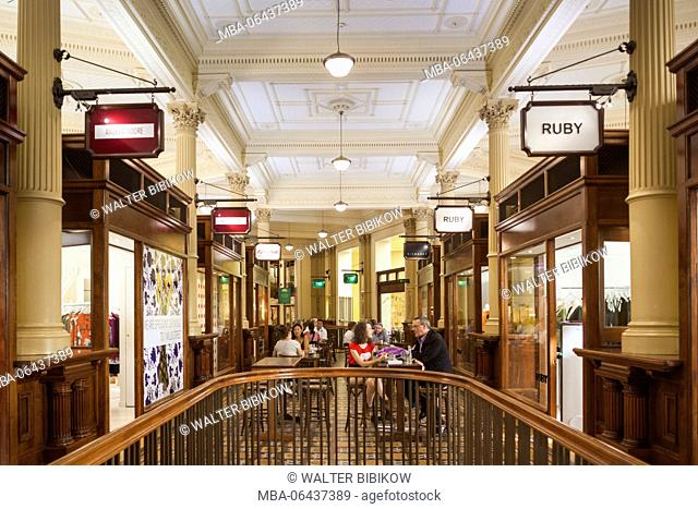 New Zealand, North Island, Wellington, Old Bank Shopping Arcade, interior