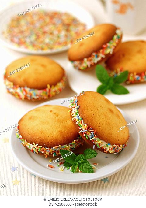 Whoopies with mascarpone