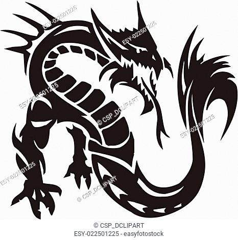 Sea Monster - vector illustration. Vinyl-ready