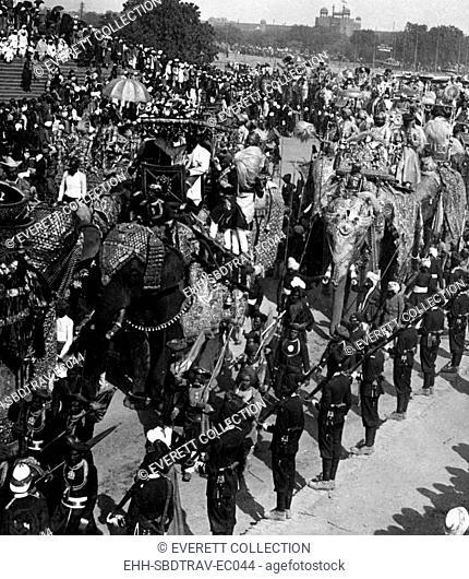 The Delhi Durbar festival, Dehli, India, 1903. Courtesy Jerry Tavin/Everett Collection