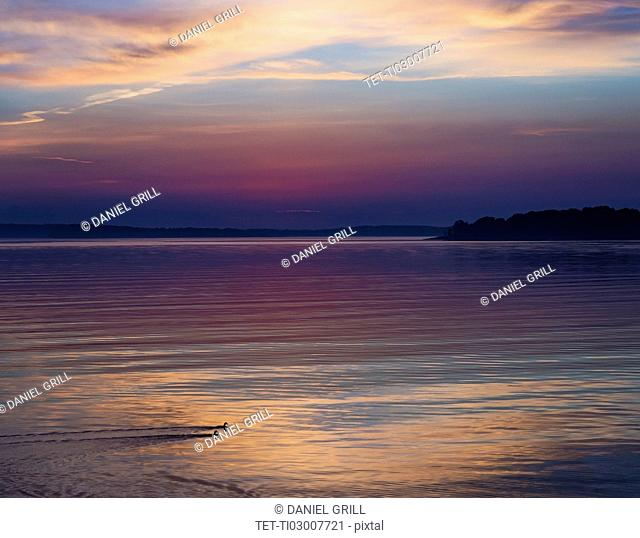 Colorful seascape at sunrise