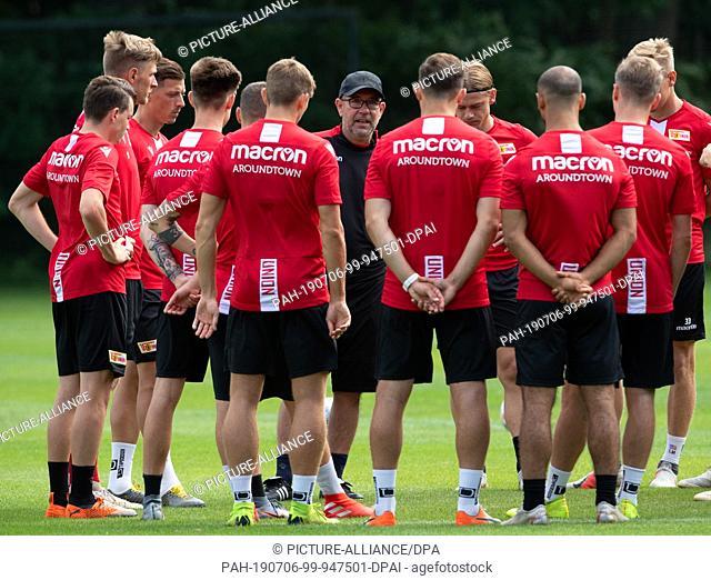 02 July 2019, Brandenburg, Bad Saarow: Soccer: Bundesliga, short training camp of the 1st FC Union Berlin at the Eintracht Reichenwalde pitch