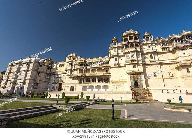 City Palace of Udaipur, Udaipur Palaces Set, Palace of the Maharana Udai Singh, Udaipur, Rajasthan, India