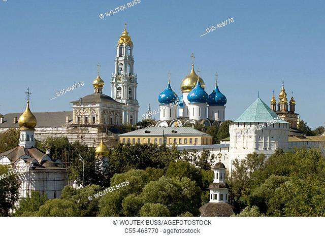 Holy Trinity-St. Sergius Lavra (monastery), Sergiyev Posad. Golden Ring, Russia