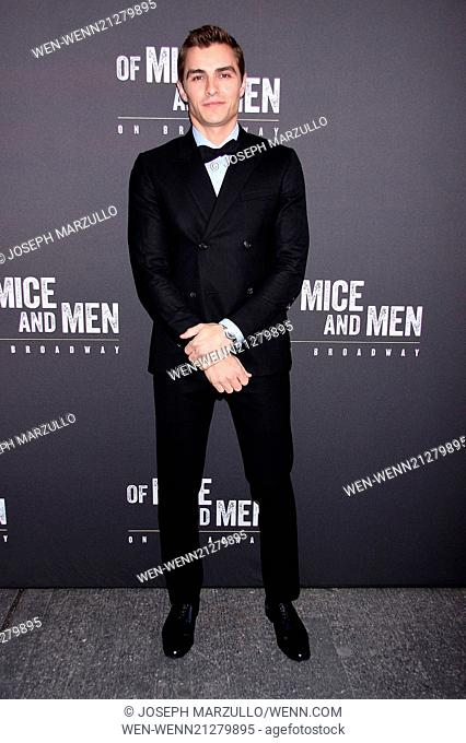 "Opening Night of """"Of Mice and Men"""" at the Longacre Theatre - Arrivals Featuring: David Franco Where: New York, New York"