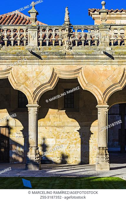 Patio of the Escuelas Menores - Minor Schools - of the University of Salamanca, is the building that housed the minor teachings, Bachelor's degree