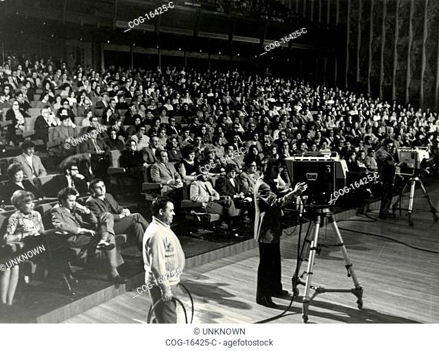 Filming of the show Cancion 1971 Spain