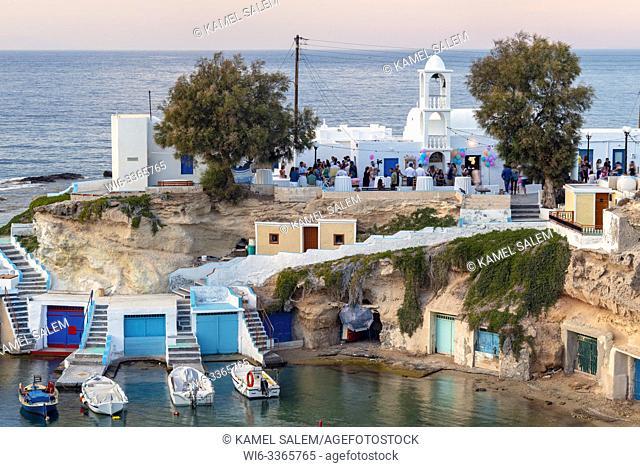 Mandrakia village, Milos island, Cyclades, Greece