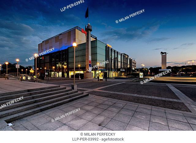 Eurovea in night, Bratislava, Slovakia