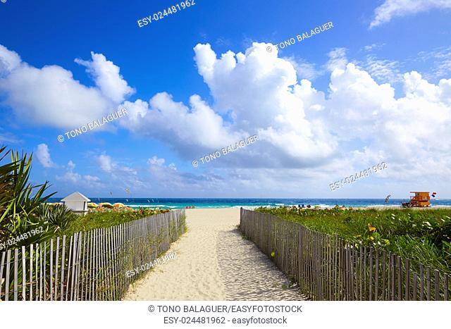 Miami south Beach entrance in Florida USA