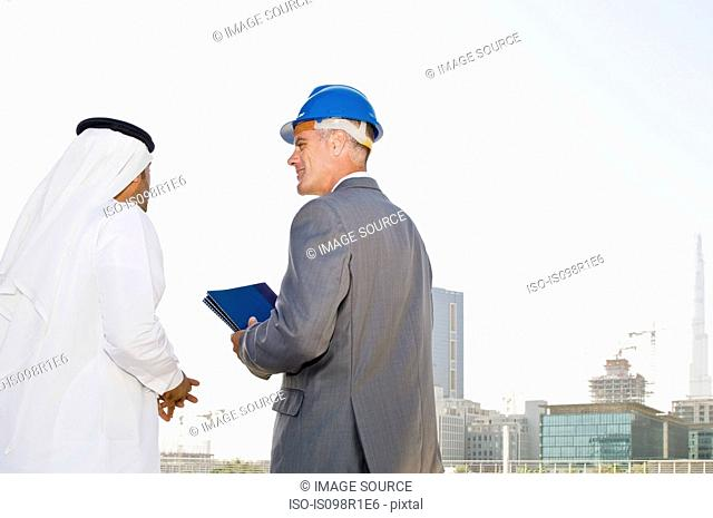 A businessman and an architect