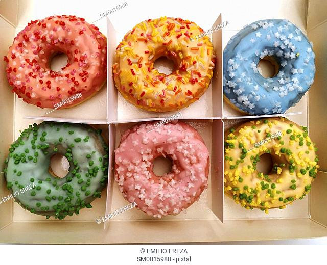 Varied donuts for sale