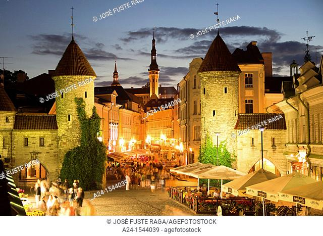 Estonia , Tallin City ,Lower Old City , Viru Gates