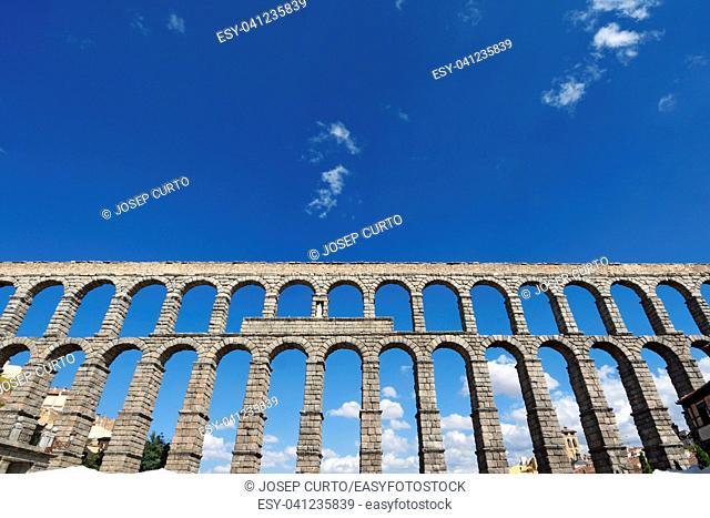 Roman aqueduct of Segovia, Castilla-Leon, Spain
