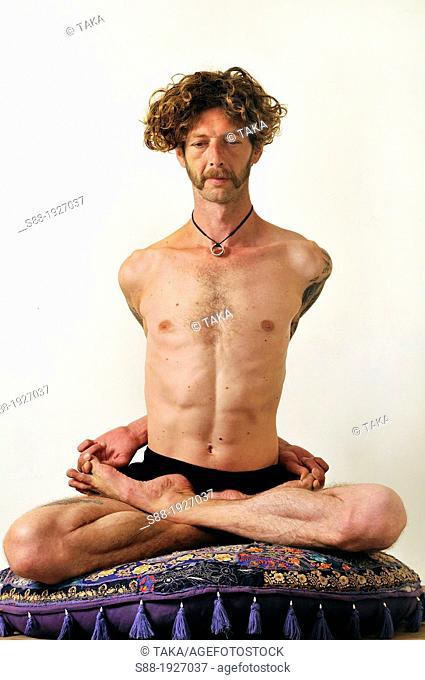 Man practice Yoga