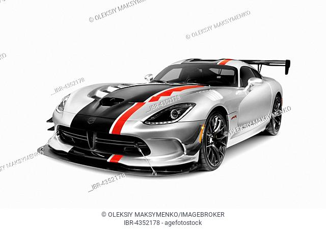 2016 Dodge Viper ACR sports car, super car, isolated on white background