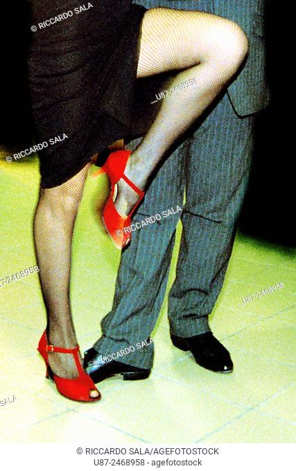Couple Dancing Argentinian Tango. . .