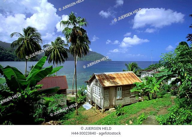 Tobago, Charlotteville, Man of War bay, small hut