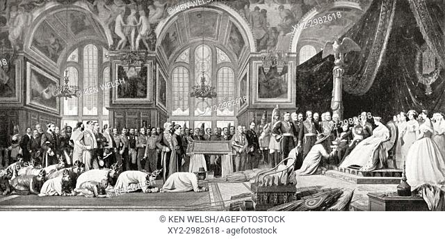 The Reception of Siamese Ambassadors by Emperor Napoleon III at the Palace of Fontainebleau, 27 June 1861. Louis-Napoléon Bonaparte, 1808 - 1873