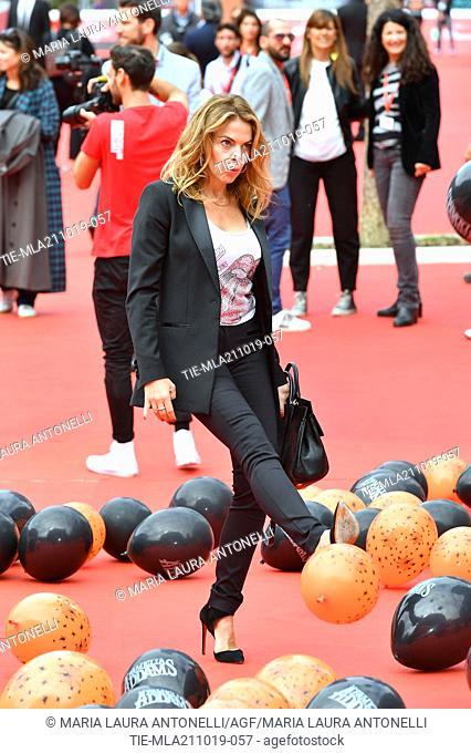 Claudia Gerini during the red carpet of cartoon ' La famiglia Addams ' at the 14th Rome Film Festival, Rome, ITALY-20-10-2019