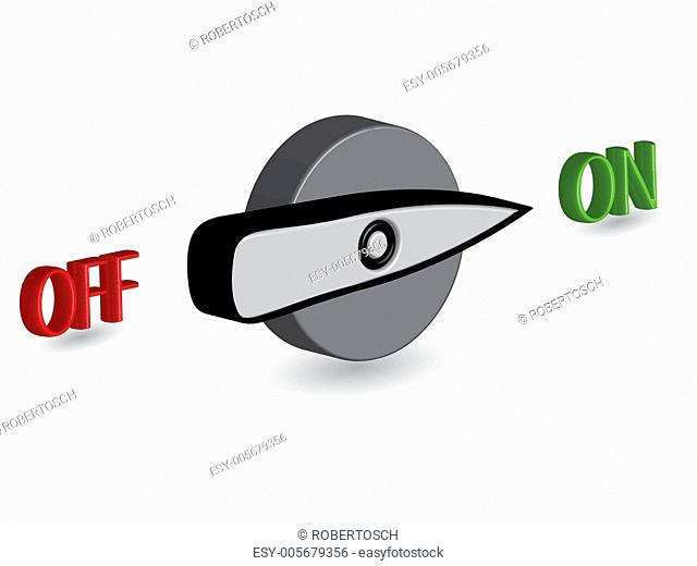 3d on off switch