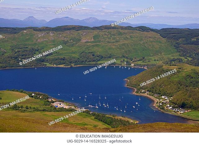 Loch Melfort And Kilmelford With The Hills Of Mull In View, Argyll