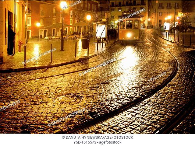 nightscape, Lisbon, Portugal