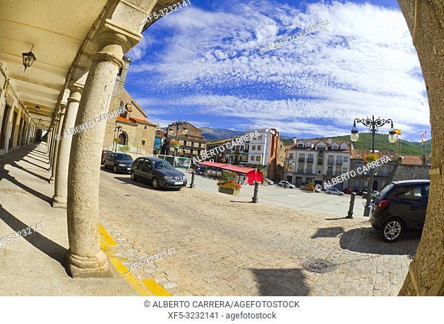 Main Square of Maldonado, Old Town, Béjar, Salamanca, Castilla y León, Spain, Europe