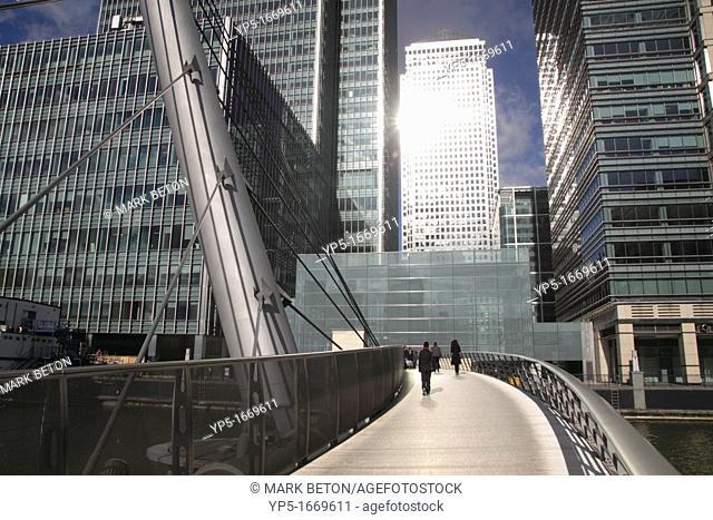 South Quay footbridge Docklands London