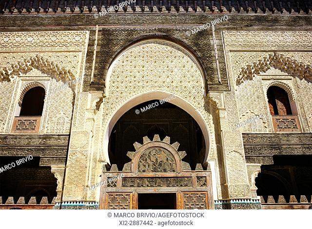 Bou Inania Madrasa in the medina of Fez Morocco