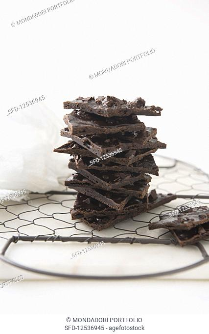 Crispy chocolate biscuits