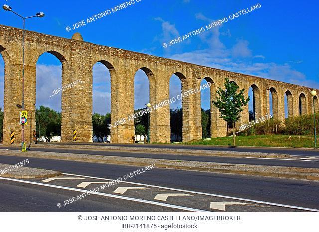 Água de Prata Aqueduct, Évora, UNESCO World Heritage Site, Alentejo, Portugal, Europe