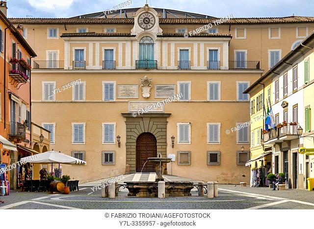 The facade of the Apostolic Palace, Castel Gandolfo, Italy
