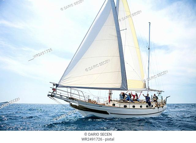 Adriatic Sea with sailing ship
