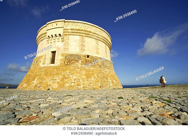 Tower of Fornells (18th Century). Bahia de Fornells. Menorca. Illes Balears. España