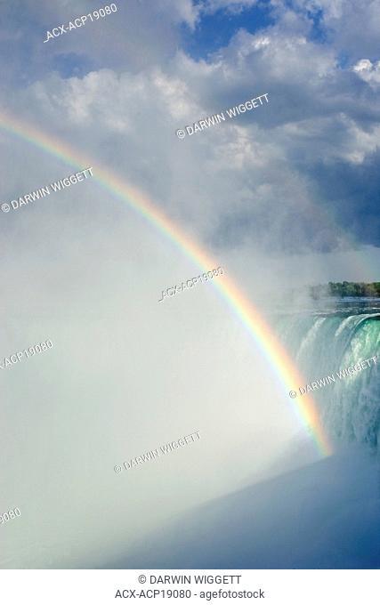 Horseshoe Falls and rainbow from Table Rock viewpoint, Niagara Falls, Ontario