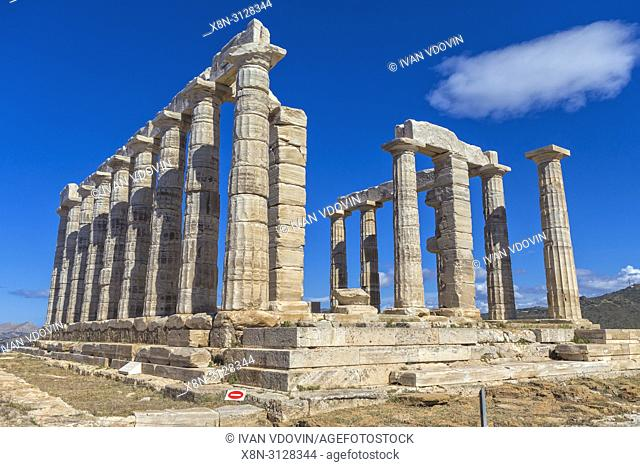 Poseidon temple (440 BC), Cape Sounio, Sounion, Attica, Greece