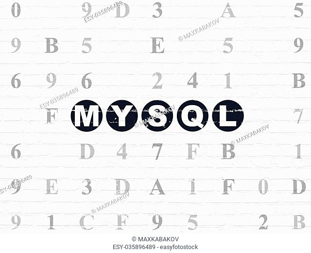 Programming concept: MySQL on wall background