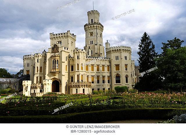 Castle, Hrad Hluboka nad Vltavou, South Bohemia, Czech Republic, Europe