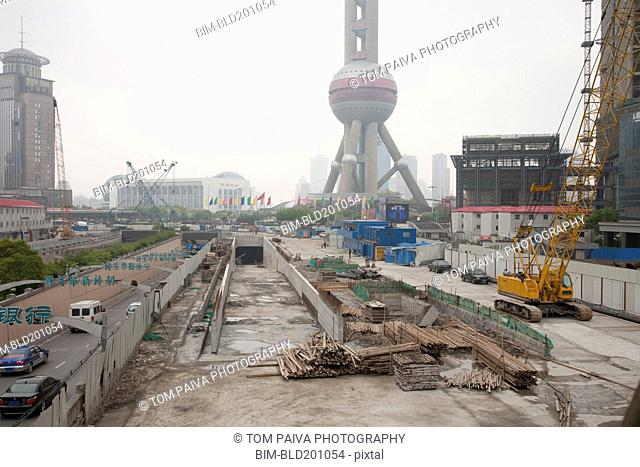 Construction site in Shanghai