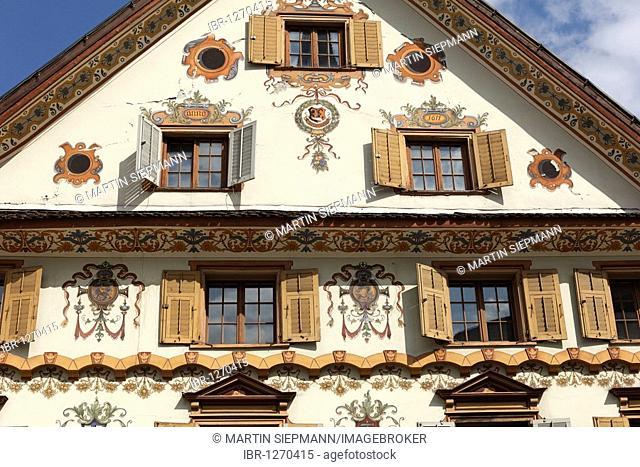 West facade of Luger House, Dornbirn, Vorarlberg, Austria, Europe
