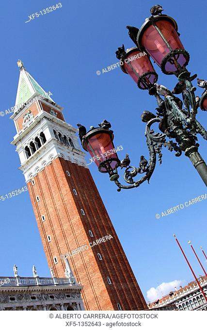 Saint Mark's Tower, Venice, Veneto, Italy, Europe