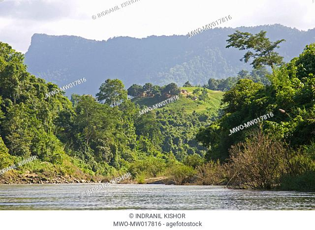 Tindu Mukh, the first phase of Tindu hill range, in Thanchi upazila, of Bandarban hill district Bangladesh October 4, 2008 One of the three hill districts of...
